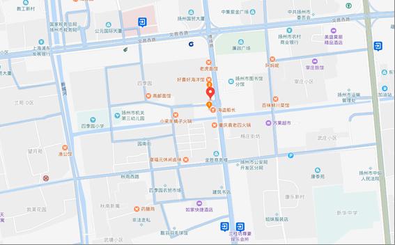 地图:          拟拍卖标的地处扬州市中心区域,纯作为银行网点
